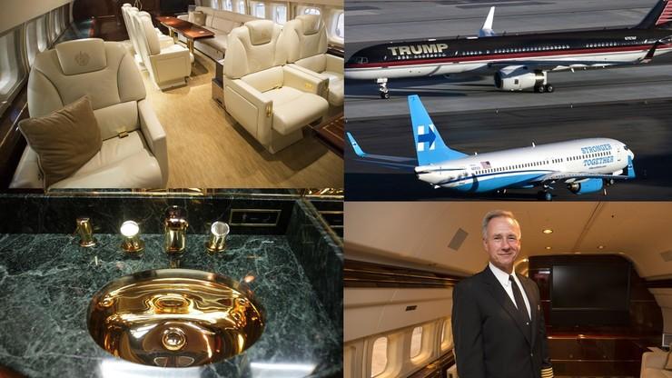 Luksusowa maszyna Trumpa przyćmiła Boeinga Hillary Clinton