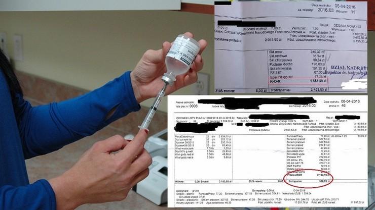 """Gorzka prawda o zarobkach pielęgniarek - pokazują swoje """"paski"""" z wynagrodzeniami"""