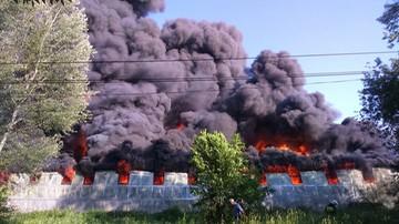 31-05-2017 19:33 Potężny pożar składu opon na Podkarpaciu. Ewakuowano okoliczne budynki
