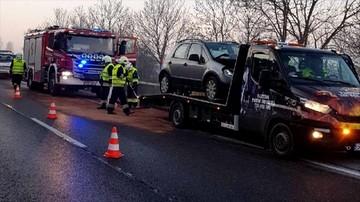 27-12-2017 10:03 Karambol w Będzinie na Śląsku. Zderzyło się siedem samochodów