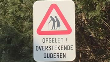"""23-01-2016 16:42 """"Uwaga babcia"""". Znak drogowy ostrzega w Belgii przed seniorami"""
