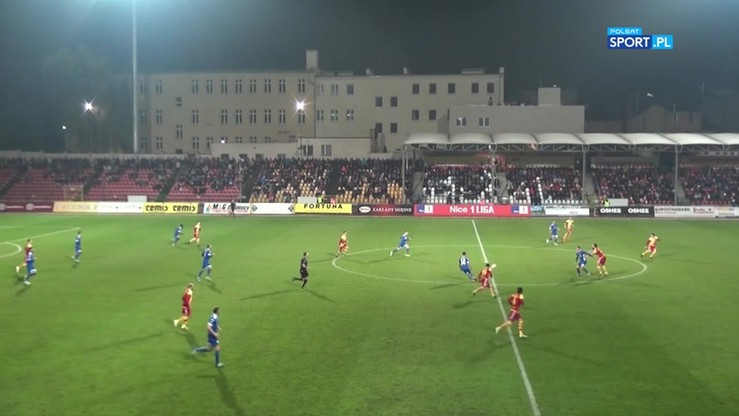 Chojniczanka - Miedź Legnica 0:0. Skrót meczu