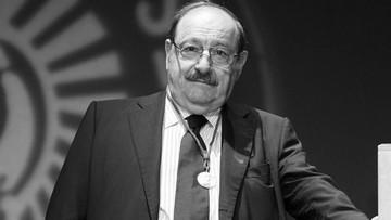 """20-02-2016 06:21 Zmarł Umberto Eco, autor """"Imienia róży"""". Miał 84 lata"""