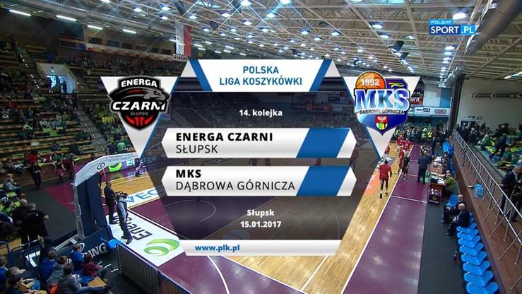 Energa Czarni Słupsk - MKS Dąbrowa Górnicza 68:82. Skrót meczu