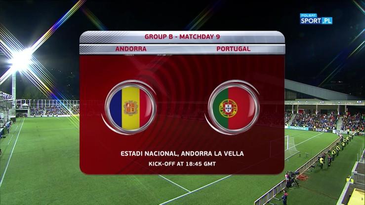 Andora - Portugalia 0:2. Skrót meczu