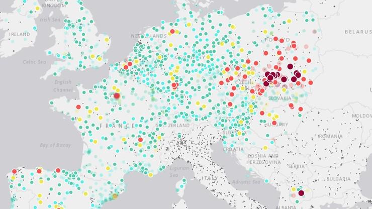 Uruchomiono interaktywną mapę jakości powietrza w Europie