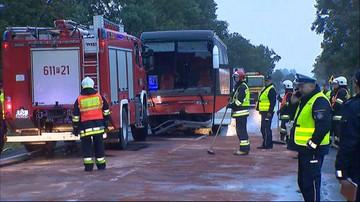 06-10-2016 16:50 Wielkopolska: wypadek autokaru wiozącego dzieci. Są ranni