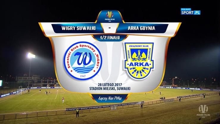 Puchar Polski: Wigry Suwałki – Arka Gdynia 0:3 (0:1). Skrót meczu