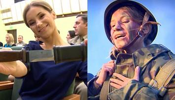 11-12-2015 19:39 Na kilka dni wstąpiła do wojska. Nagroda dla reporterki Polsat News