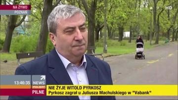 2017-04-22 Wiesław Kot wspomina zmarłego Witolda Pyrkosza