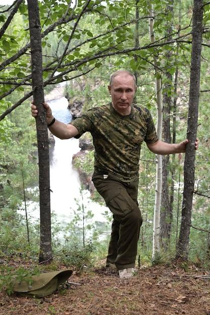 Putin na wakacjach. Na Syberii