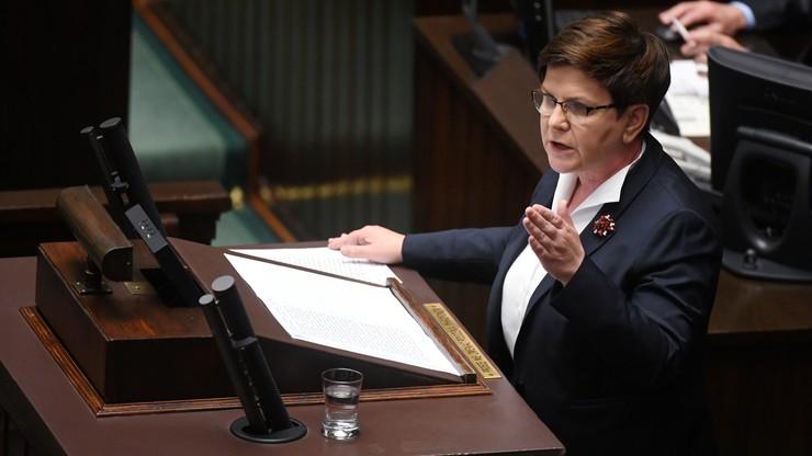 """""""Antyeuropejskie"""", """"Premier wylała frustrację"""" - opozycja o wystąpieniu Beaty Szydło"""