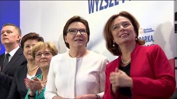 Przemówienie premier Ewy Kopacz po ogłoszeniu sondażowych wyników wyborów.
