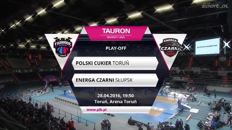 Polski Cukier Toruń - Energa Czarni Słupsk 87:90. Skrót meczu