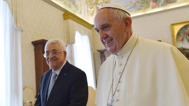 Papież o prezydencie Palestyny: Jesteś aniołem pokoju