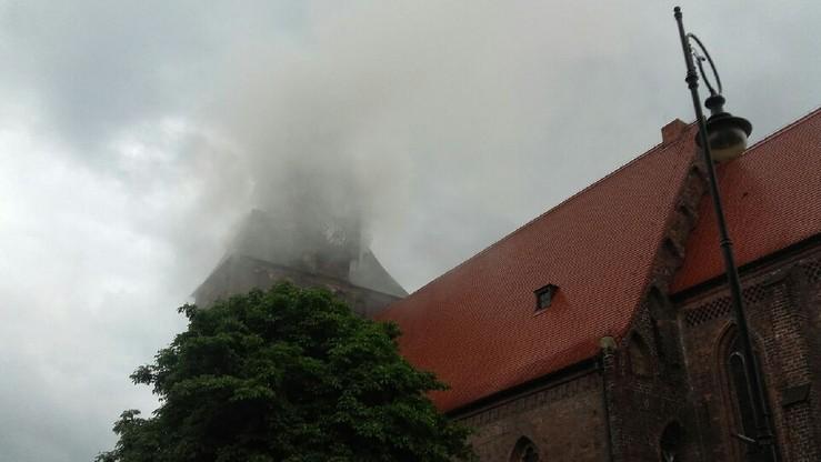 2017-07-01 Płonie katedra w Gorzowie Wielkopolskim - informuje czytelnik polsatnews.pl