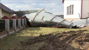 Skutki wichury w gminie Szczucin