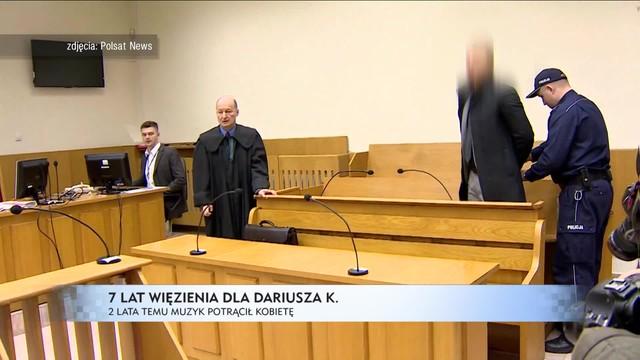7 lat więzienia dla Dariusza K.
