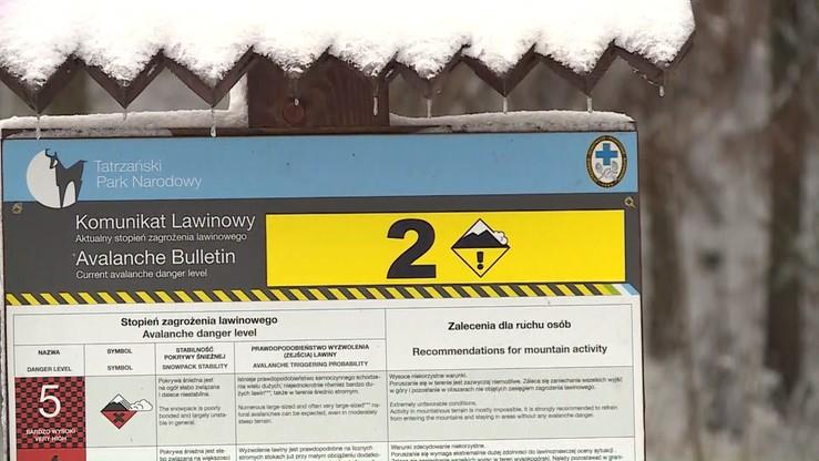 Lawina porwała troje turystów w Tatrach. Ratownicy ostrzegają