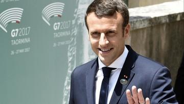 """28-05-2017 16:31 Macron: długi uścisk dłoni z Trumpem był """"chwilą prawdy"""""""