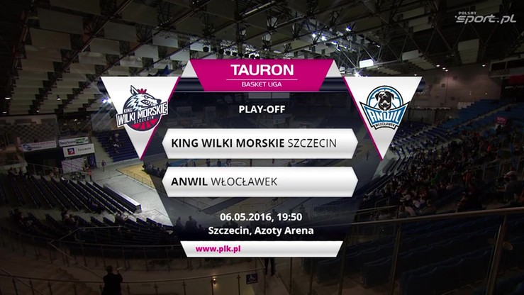 King Wilki Morskie Szczecin - Anwil Włocławek 75:83. Skrót meczu