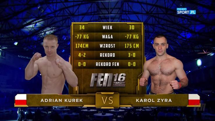 Adrian Kurek - Karol Zyra. Skrót walki