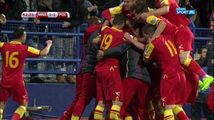 Czarnogóra - Polska 1:1. Gol Mugosy
