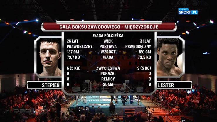 Paweł Stępień - Dayron Lester. Skrót walki