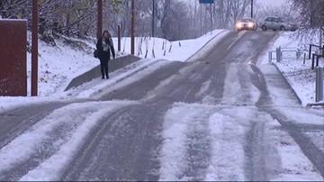 Intensywne opady śniegu w kilku województwach, ślisko na drogach