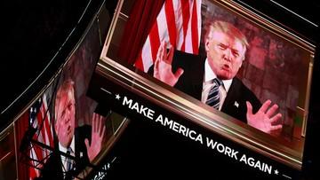 20-07-2016 05:15 Trump oficjalnie kandydatem Republikanów w wyścigu o fotel prezydencki