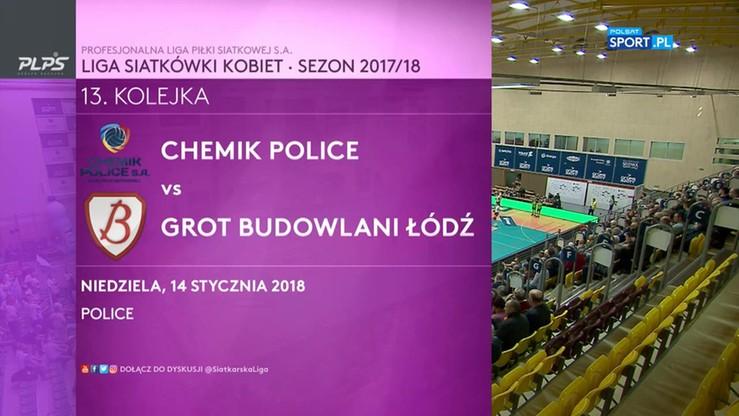 Chemik Police – Grot Budowlani Łódź 3:0. Skrót meczu