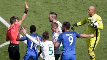 Francja - Irlandia: Czerwona kartka dla Duffy'ego! Faulowany Griezmann (WIDEO)