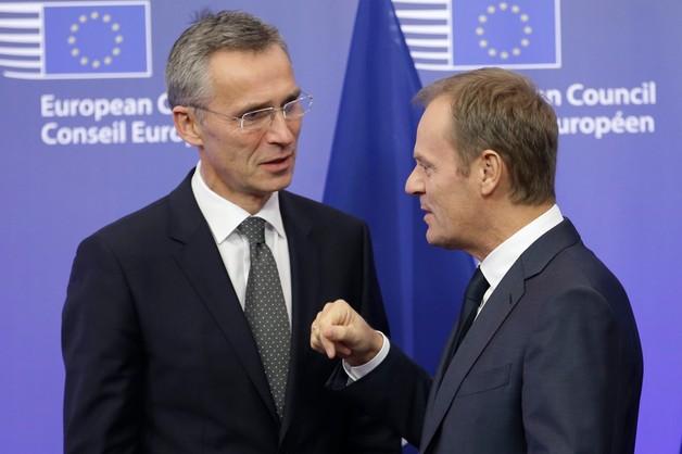 Tusk i Stoltenberg krytykują Rosję za destabilizowanie Ukrainy
