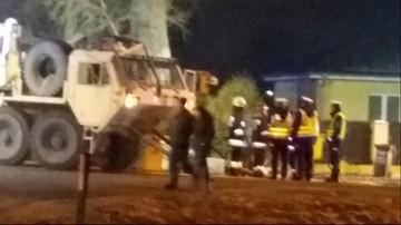 Wypadek amerykańskiej ciężarówki w Gorzowie Wlkp. Paliwo wylało się na ulicę