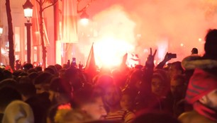 Zamieszki po zwycięstwie. Imigranci z Maroka wywołali burdy w europejskich miastach