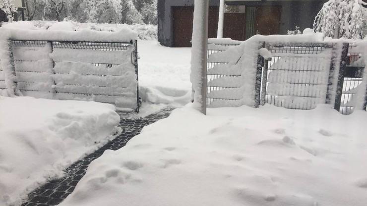 2017-04-19 Śnieg po kolana w Częstochowie