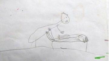 Pięciolatka narysowała, jak molestował ją ksiądz