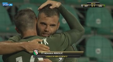2016-07-27 AS Trencin – Legia Warszawa 0:1. Gol Nikolicia