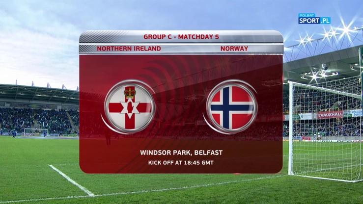Irlandia Północna - Norwegia 2:0. Skrót meczu