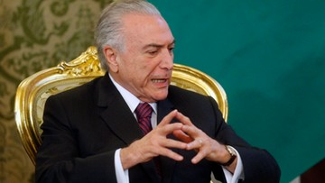 24-06-2017 20:47 7 procent - rekordowo niskie poparcie dla urzędującego prezydenta Brazylii