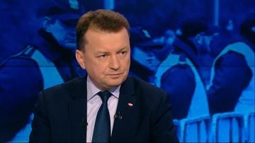 """""""Nikt nie wydał rozkazu"""" - Błaszczak o przysłaniu policji do parlamentu"""
