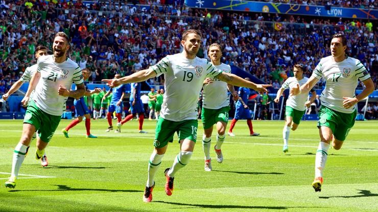 Francja - Irlandia 0:1. Gol Brady'ego z rzutu karnego