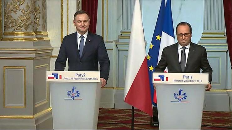 Andrzej Duda spotkał się z Francoisem Hollandem