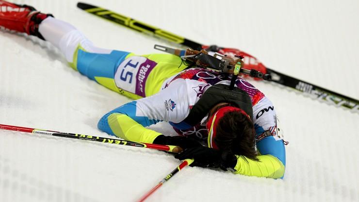Biathlonistka Gregorin zdyskwalifikowana
