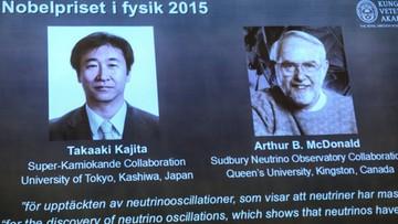 06-10-2015 13:14 Nagroda Nobla w dziedzinie fizyki przyznana