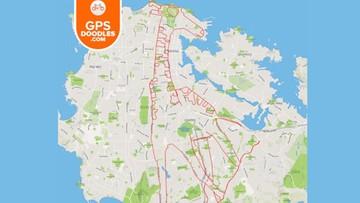 29-02-2016 16:12 Kanadyjczyk rysuje niezwykle skomplikowane wzory przy użyciu roweru i aplikacji GPS