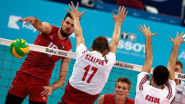 Igrzyska Europejskie: siatkarze przegrali mecz o trzecie miejsce