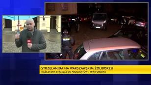 Strzelanina na warszawskim Żoliborzu - trwa obława na uzbrojonego mężczyznę