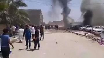 01-05-2016 14:05 33 ofiary śmiertelne dwóch zamachów bombowych w Iraku