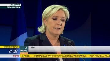 """2017-04-23 Le Pen: proponuje Francję z granicami, która będzie chronić obywateli. """"Jestem prawdziwą kandydatką ludu francuskiego"""""""